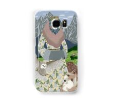 Lady with an owl and a dog Samsung Galaxy Case/Skin
