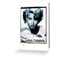 Lana Turner Hollywood Actress Greeting Card