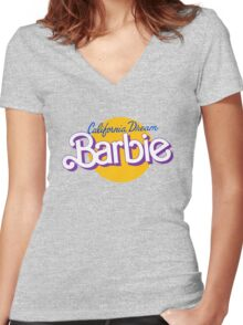 california dream barbie Women's Fitted V-Neck T-Shirt