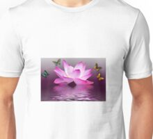 Butterflies and flower Unisex T-Shirt