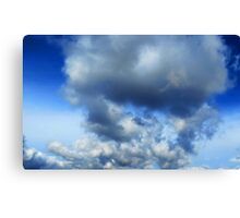 Sky - puffy clouds (2016) Canvas Print