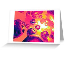Surreal Spherical Entities Greeting Card