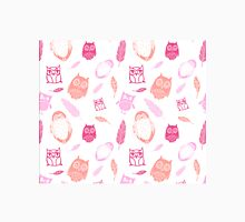 Fuchsia Pink Peach owl Pattern Classic T-Shirt