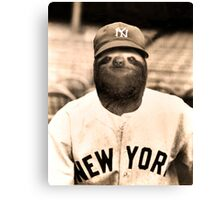 Baseball Sloth Canvas Print