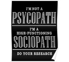 High Functioning sociopath Sherlock Poster