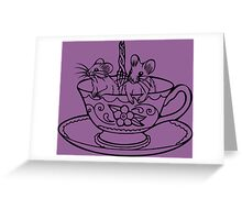 Two for Tea Greeting Card