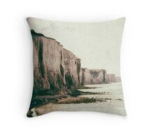 Old photograph of the French cliffs Throw Pillow