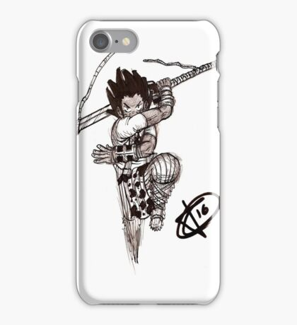 Phthalo lunge iPhone Case/Skin