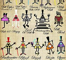 Bill Cipher Statistics. by MonotoneInkwell