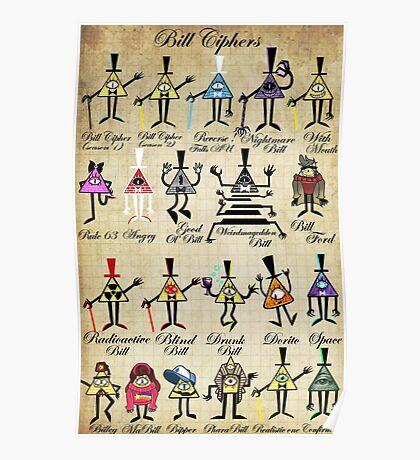 Bill Cipher Statistics. Poster