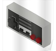 NES Controller - Isometric Poster