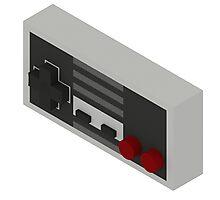 NES Controller - Isometric Photographic Print