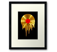 Melting vinyl GOLD Framed Print