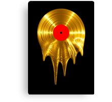 Melting vinyl GOLD Canvas Print