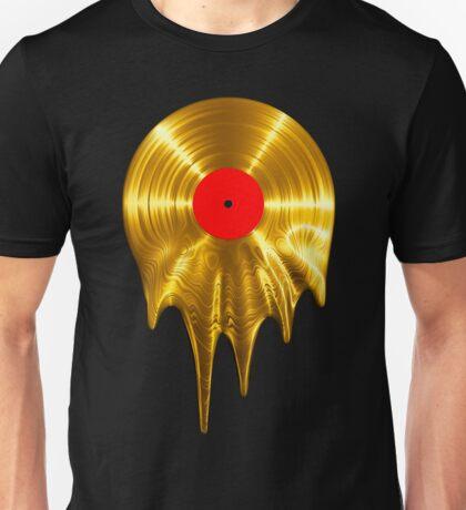 Melting vinyl GOLD Unisex T-Shirt
