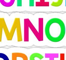 Alphabet fun Sticker