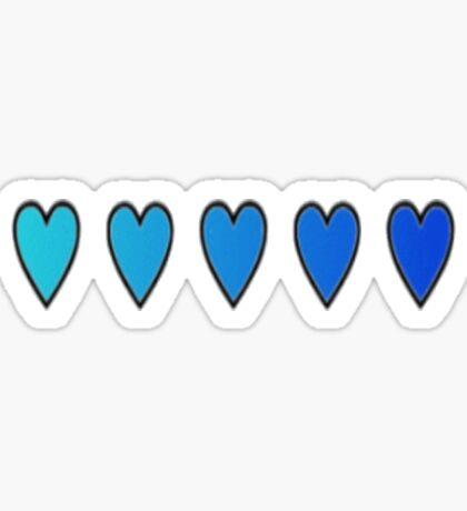 Blue Hearts Sticker