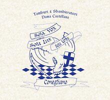 T&S Dama Castellana Blu Zipped Hoodie