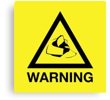 Fox Warning Canvas Print