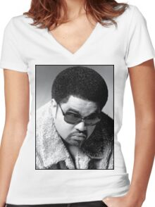 Heavy D up in the limousine Women's Fitted V-Neck T-Shirt