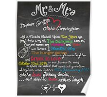 Valentine's and Couples Chalkboard (Printable file) Poster