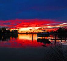 Winter Sunset by Eileen McVey