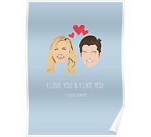 Leslie Knope Loves Ben Wyatt Poster