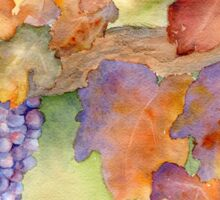 Fall Grape Harvest Sticker