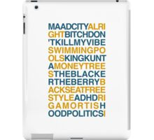 Kendrick Lamar Songs iPad Case/Skin