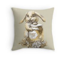 Honey Bunny  (two color) Throw Pillow