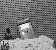 Lego TARDIS - black and white by ClassyManPro