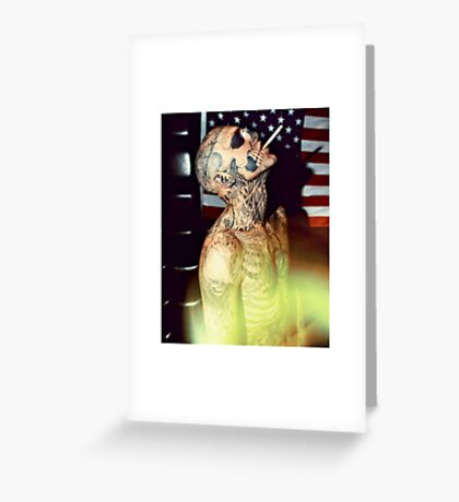 Zombie Boy Body Art Tattoo  Greeting Card