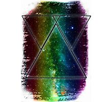Hipster Galaxy Triangles Photographic Print