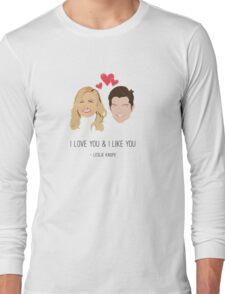 Leslie Knope Loves Ben Wyatt Long Sleeve T-Shirt