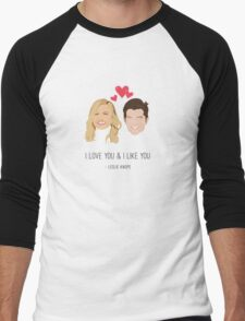 Leslie Knope Loves Ben Wyatt Men's Baseball ¾ T-Shirt