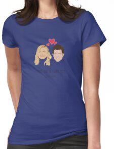 Leslie Knope Loves Ben Wyatt Womens Fitted T-Shirt