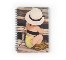 Summer Fashion Girl Painting Spiral Notebook