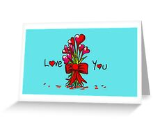 Love You Flowers Greeting Card