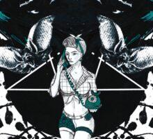 Rockabilly Gothic Pentagram Sticker