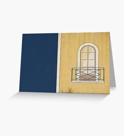 Window wall. Greeting Card