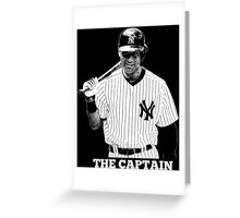 Derek Jeter The Captain Greeting Card