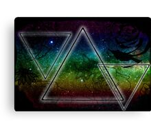 Hipster Triangles Space Canvas Print