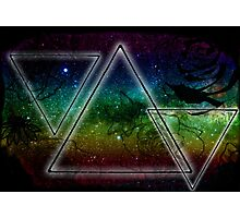 Hipster Triangles Space Photographic Print