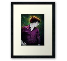 Purple shirt Framed Print
