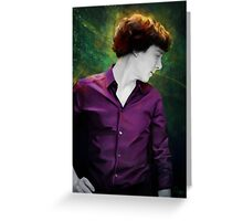 Purple shirt Greeting Card