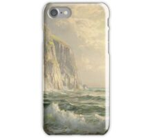 Rocky Cliff with Stormy Sea Cornwall-William Trost Richards- iPhone Case/Skin