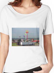 Lincoln, Nebraska - Trucks, Gas and Motels Women's Relaxed Fit T-Shirt