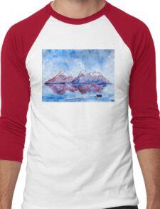 winter highlands - scotland Men's Baseball ¾ T-Shirt