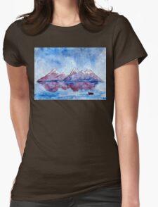 winter highlands - scotland Womens Fitted T-Shirt