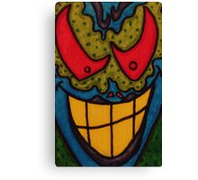 He Only Looks Crazy Canvas Print